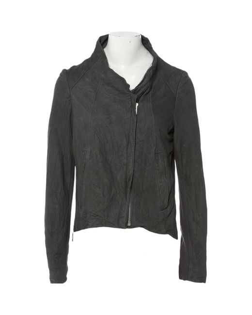 Helmut Lang Gray Anthracite Suede Jacket