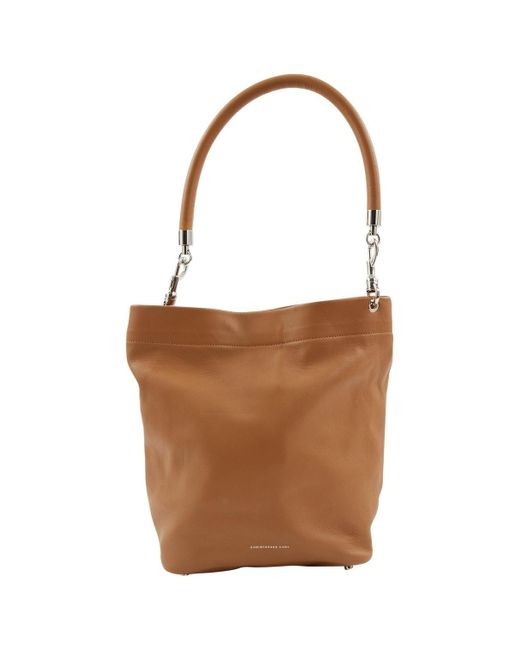 Christopher Kane Brown Camel Leather Handbag