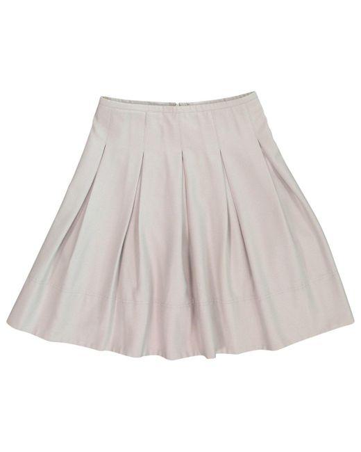 Burberry Natural Beige Wool Skirt