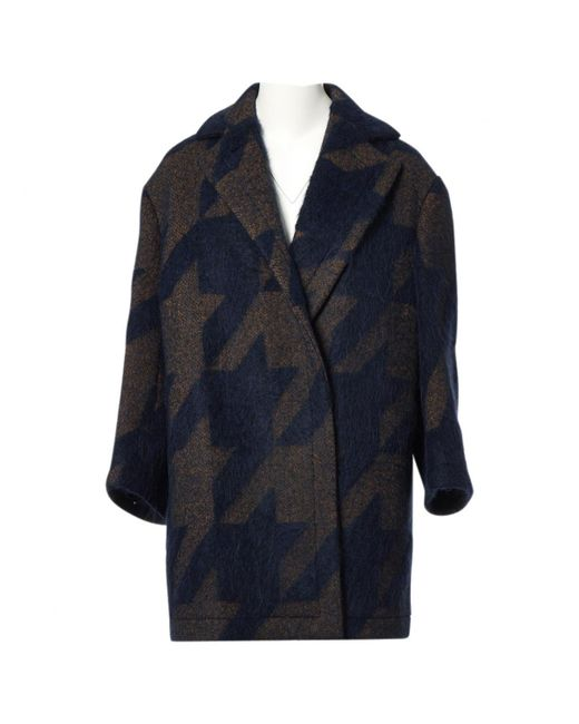 Stella McCartney - Blue Wool Coat - Lyst