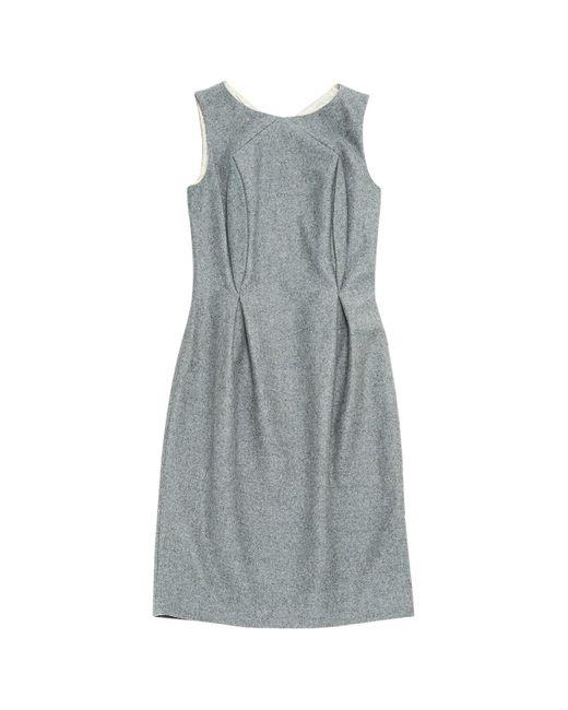 Jil Sander Gray Grey Wool Dress