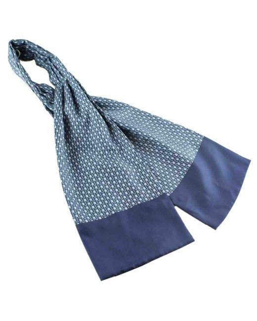 Chèches.Echarpes \N en Soie Bleu Hermès pour homme en coloris Blue