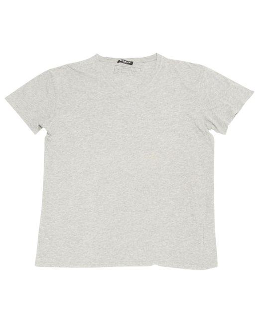 Balmain - Gray Grey Cotton T-shirts for Men - Lyst