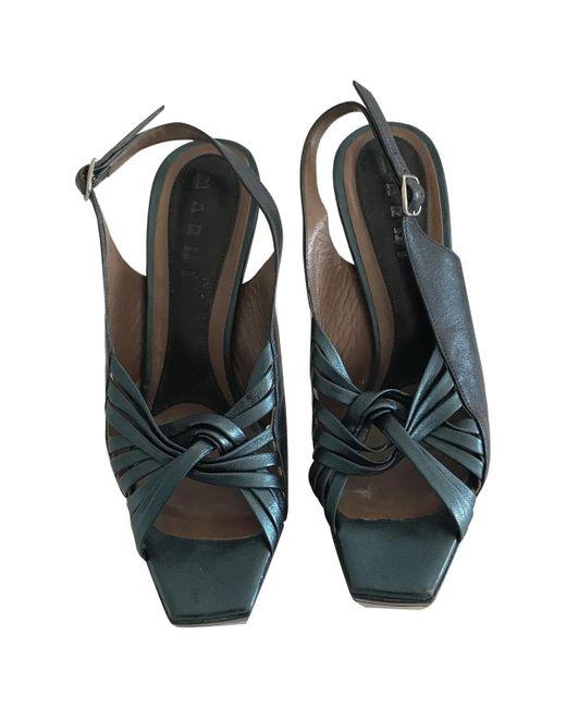 Marni - Green Leather Heels - Lyst