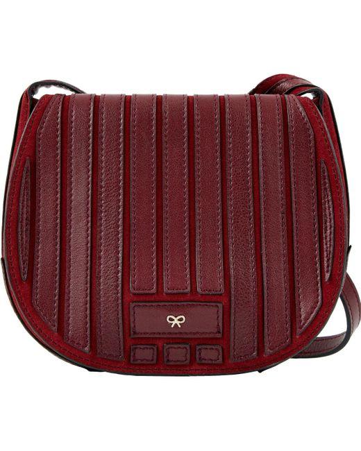 Anya Hindmarch Multicolor Burgundy Leather Handbag