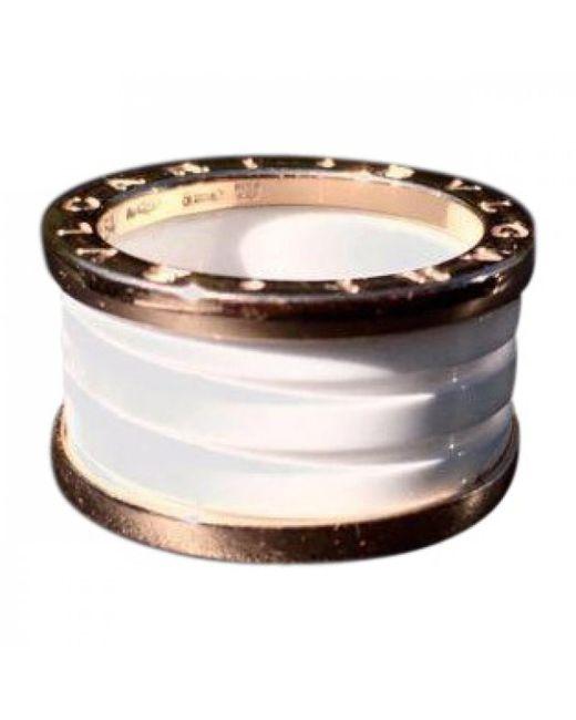 BVLGARI - Metallic B.zero1 Pink Gold Ring - Lyst