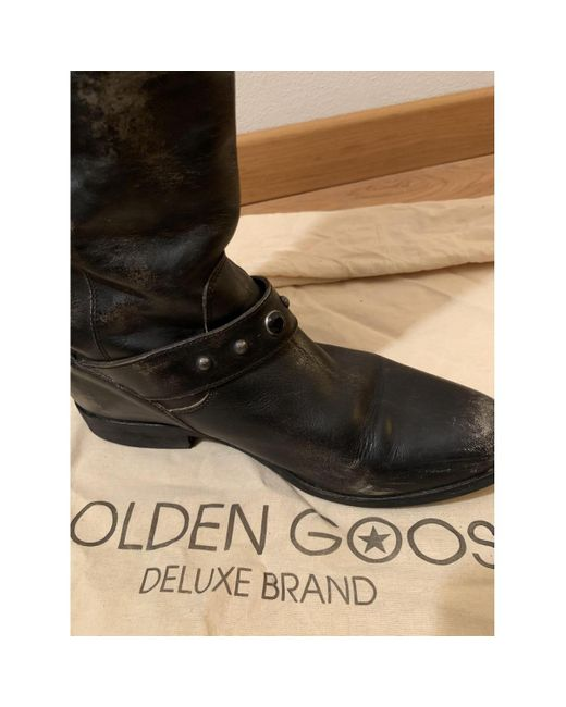 Golden Goose Deluxe Brand Black Leather Boots