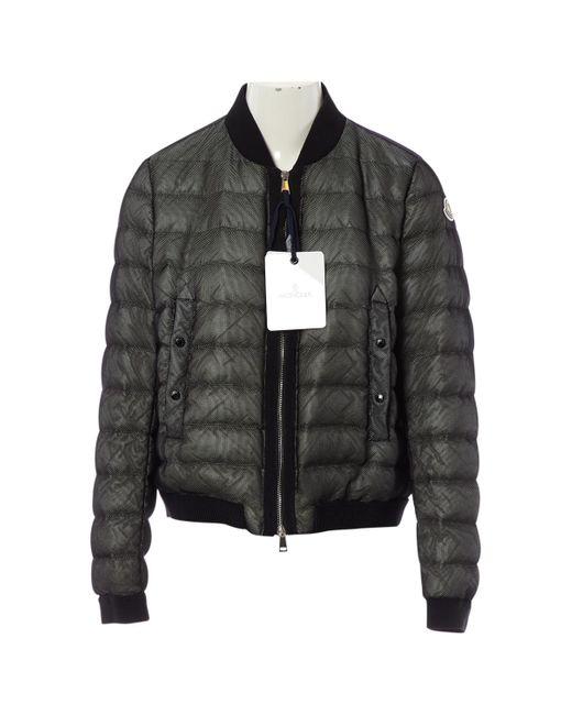 Moncler Black Jacke Synthetik Schwarz