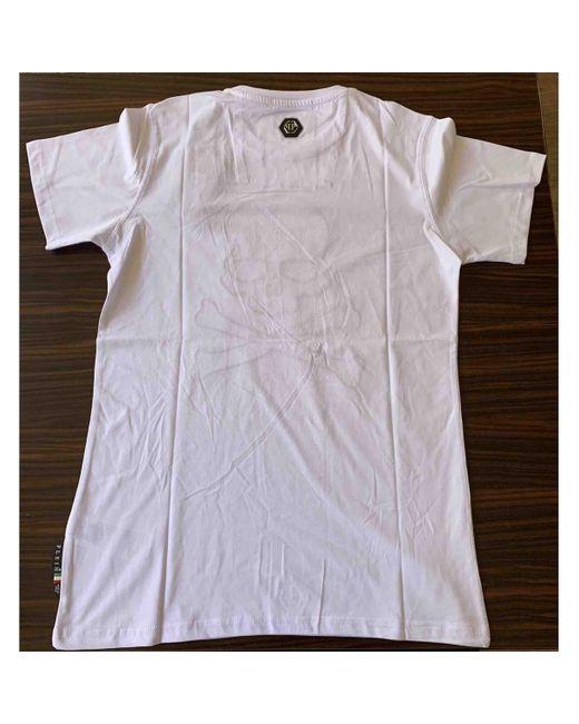 T-shirt di Philipp Plein in White da Uomo