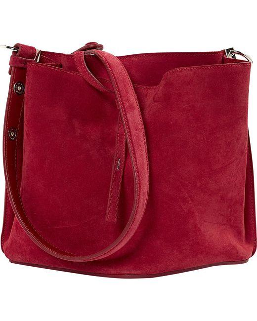 Maison Margiela Red Suede Handbag