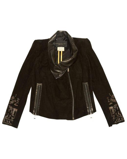 Barbara Bui Black Suede Jacket