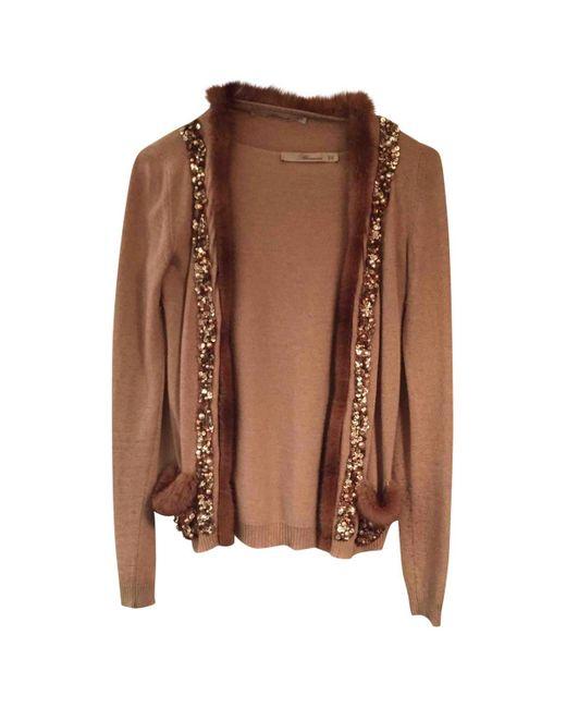 Blumarine Natural Beige Cashmere Knitwear