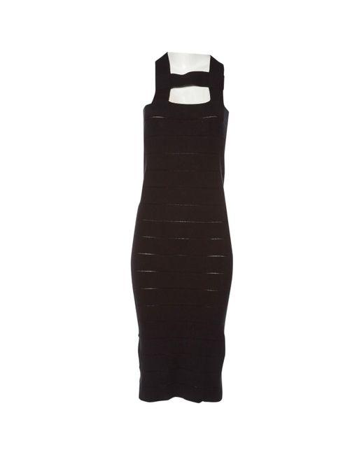 Stella McCartney - Black Silk Mid-length Dress - Lyst