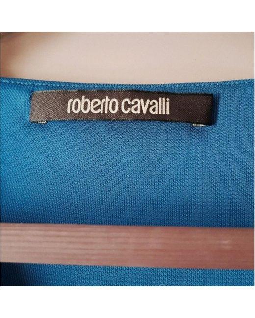 Roberto Cavalli Blue Viscose Top