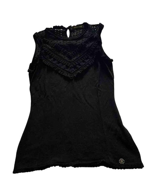 Roberto Cavalli Black Viscose Top