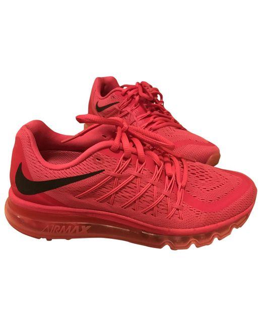 Nike Deportivas Air Max de Lona de mujer de color rosa