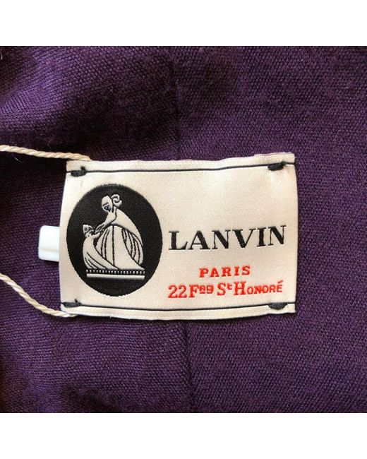 Vestito midi in Lana di Lanvin in Multicolor