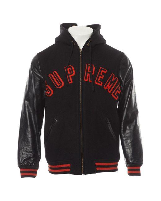 Supreme \n Black Wool Jacket