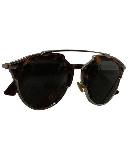 Dior So Real Brown Plastic Sunglasses