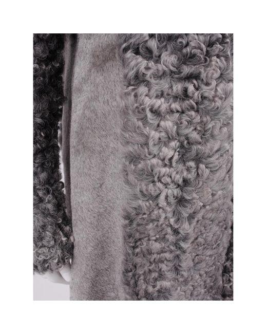 Proenza Schouler Gray Shearling Coat