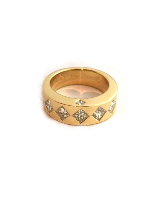Chanel Metallic Matelassé Gelbgold Ringe