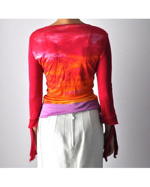 Roberto Cavalli Multicolor Viscose Top