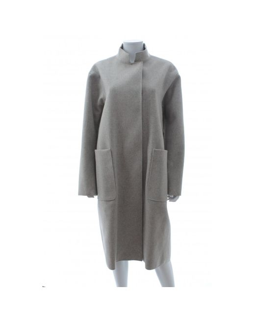 Victoria Beckham - Gray Pre-owned Wool Coat - Lyst