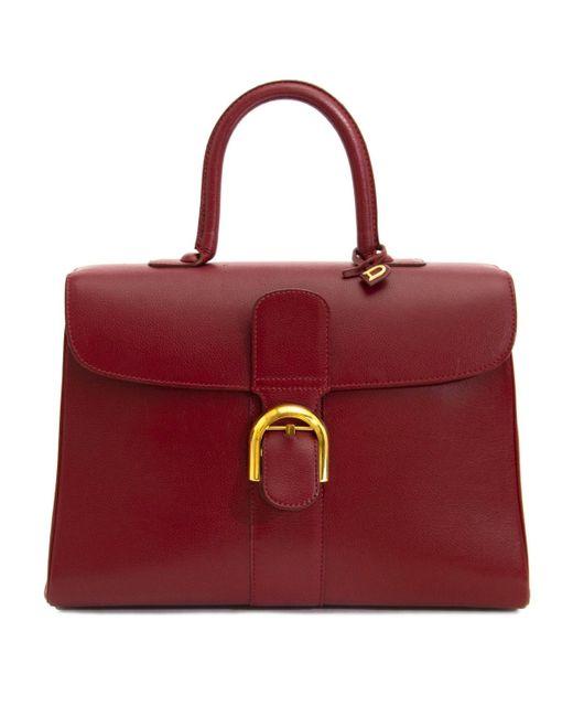 Delvaux Le Brillant Red Leather Handbag