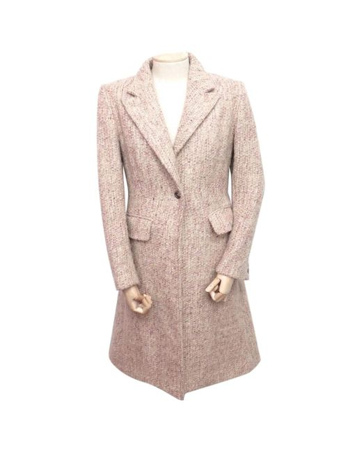 Burberry - Pink Pre-owned Wool Coat - Lyst
