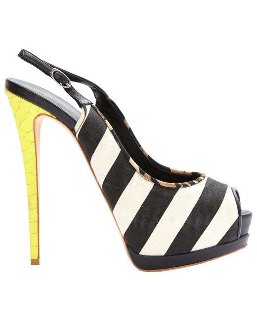 Giuseppe Zanotti - Black Cloth Heels - Lyst