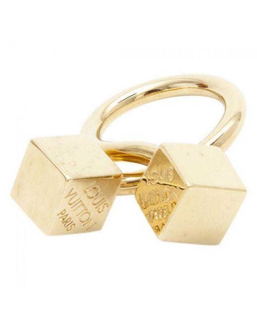 Louis Vuitton - Metallic Gold Metal Ring - Lyst