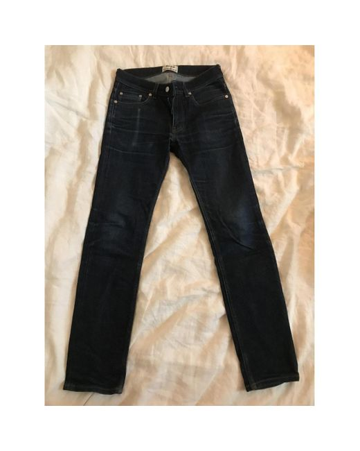 Acne Studios Jeans en Coton Bleu homme de coloris noir