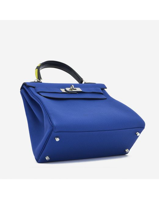 Hermès Blue Kelly 28 Leder Handtaschen