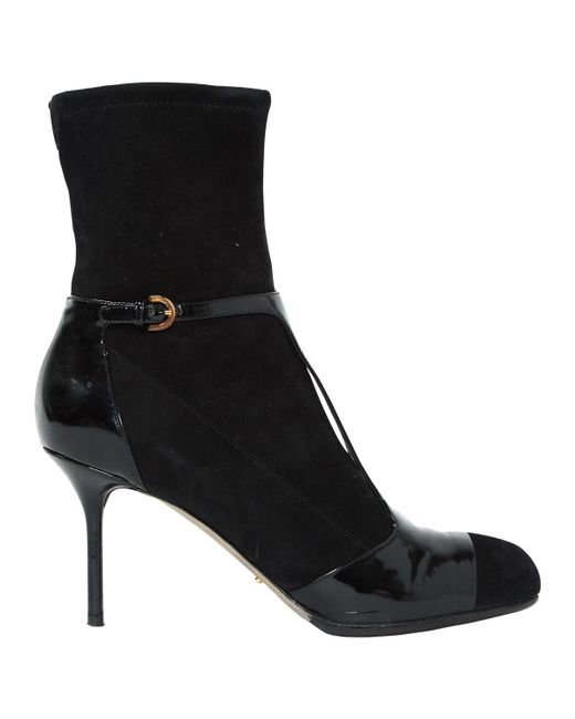 Sergio Rossi - Black Ankle Boots - Lyst