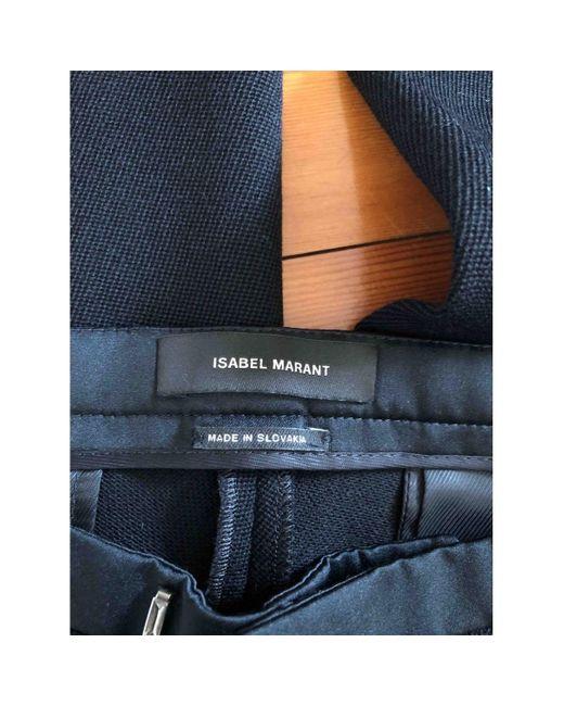 Isabel Marant Pantalons en Polyester Noir femme uM4oL
