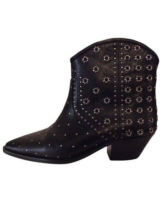 Free Shipping For Cheap Best Place Sale Online Pre-owned - Leather western boots Isabel Marant Outlet Amazon Manchester Great Sale Sale Online SscwF0Y