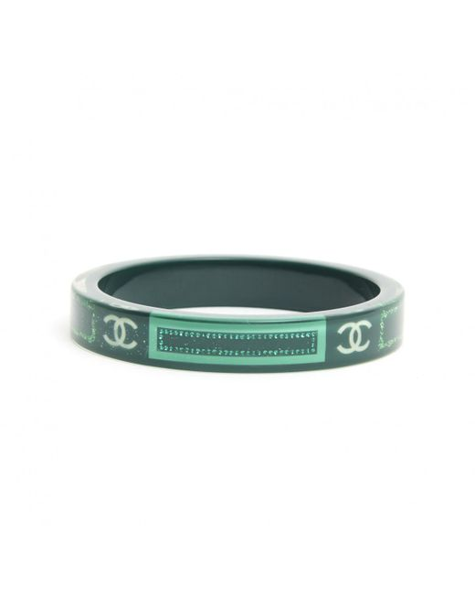 Chanel - Pre-owned Green Plastic Bracelet - Lyst