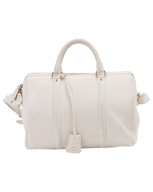 Louis Vuitton - White Leather Handbag - Lyst