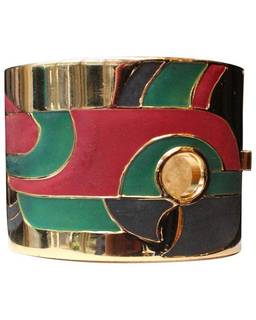 Lanvin - Multicolor Pre-owned Vintage Multicolour Metal Bracelets - Lyst