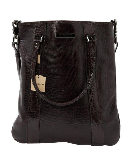 61b98c1fa06b Burberry - Black Leather Bag for Men - Lyst ...