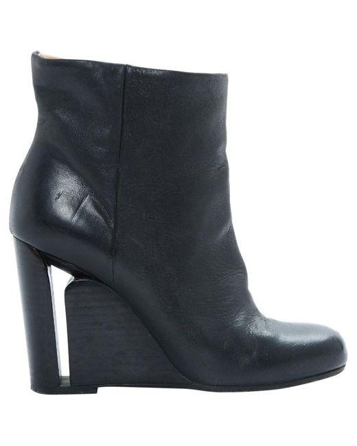 Maison Margiela Black Leather
