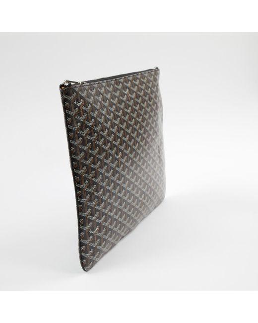 4efd8f49d31f ... Goyard - Brown Sénat Cloth Clutch Bag - Lyst ...