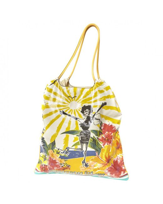 Lanvin - Yellow Pre-owned Cloth Handbag - Lyst