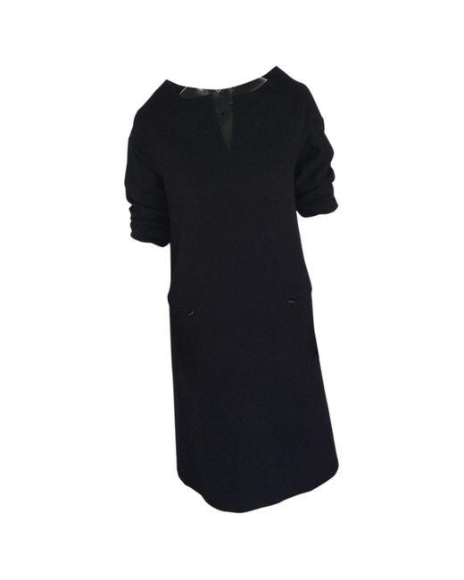 Bottega Veneta Black Wool Dress