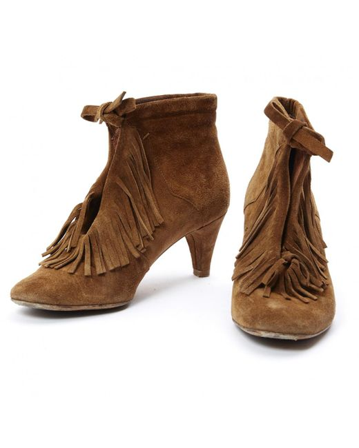 15545d90ed0 Lyst - Maje Ankle Boots in Brown