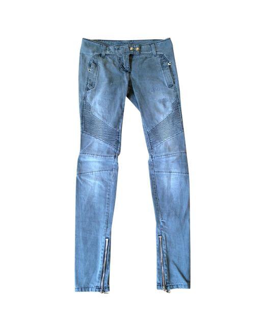 Balmain | Gray Pre-owned Slim Jeans | Lyst