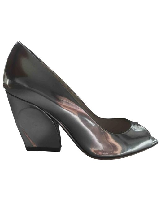 Dior | Metallic Patent Leather Heels | Lyst