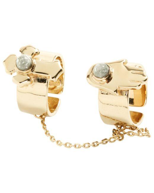 Roberto Cavalli - Metallic Gold Silver Ring - Lyst