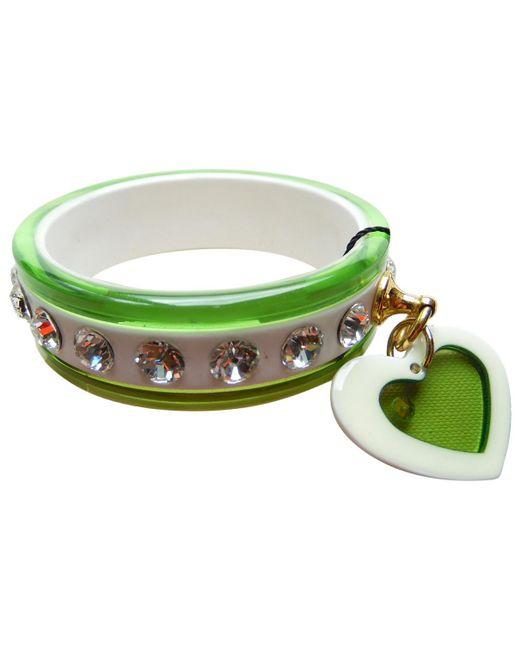 Miu Miu | Pre-owned Green Plastic Bracelet | Lyst