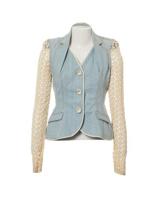 Dior - Blue Short Vest - Lyst